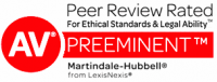 Peer Review Recognition - Preeminent - Legal Ability and Ethical Standards